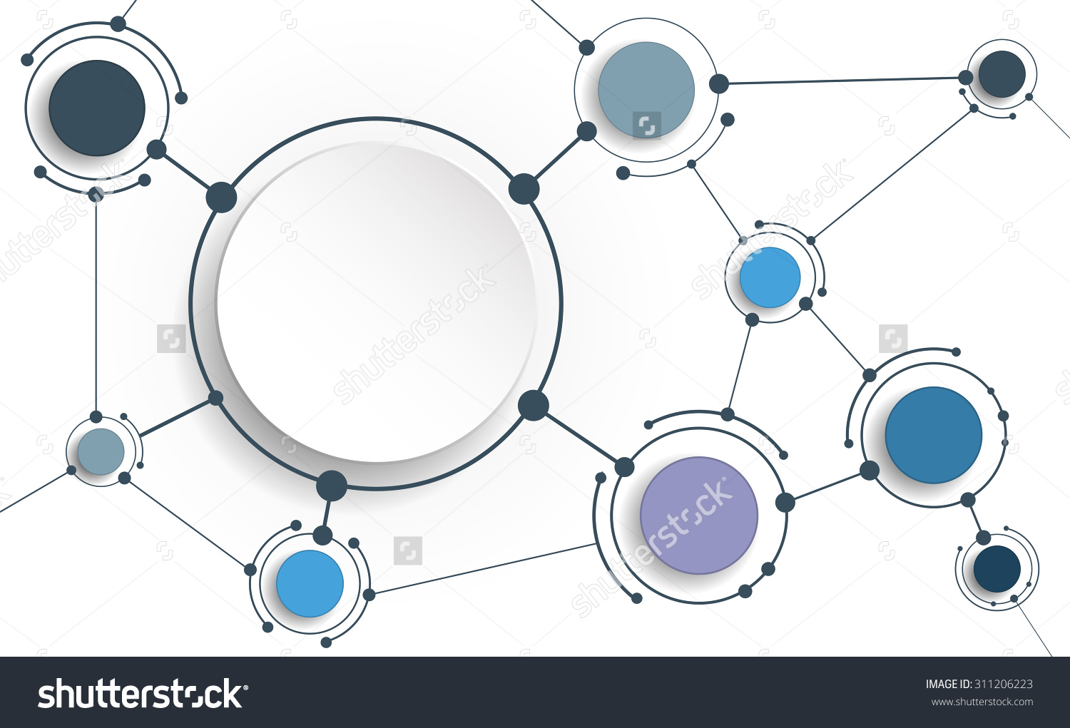 stock-vector-vector-abstract-molecules-with-d-paper-on-light-gray-background-communication-social-media-311206223